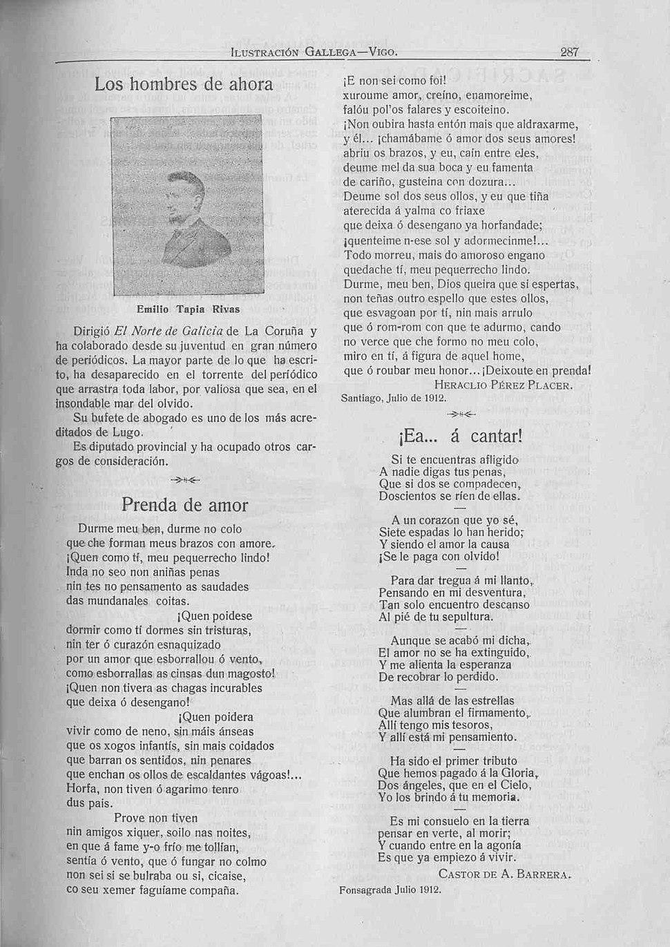 Ilustración Gallega, 10 de julio de 1912, 287