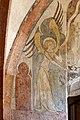 Im frühen14. Jahrhundert schuf Rudolphus von Wimpfen die Fresken in der Marienkirche. Eleganter Engel.jpg