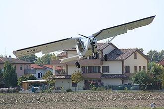 Forlì - Landing field in Villafranca di Forlì, with hamlet in the background.