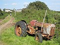 In need of some TLC - an old tractor beside the lane from Trevithal to Paul - geograph.org.uk - 974450.jpg
