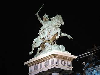 Clermont-Ferrand - Statue of Vercingétorix by Frédéric Auguste Bartholdi on the main square of the city