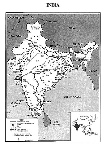 Mining in India - The distribution of minerals in India  Jammu and Kashmir is part of India according to the United States Geological Survey