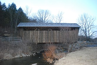 National Register of Historic Places listings in Monroe County, West Virginia - Image: Indian Creek Covered Bridge Side View