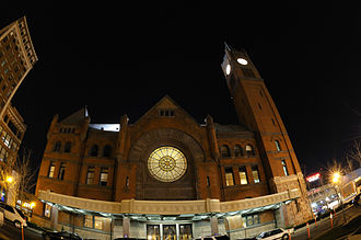 Indianapolis Cultural Districts - Indianapolis Union Station in 2008.