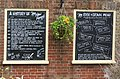 Informative blackboards at Rose and Crown pub, Brockenhurst - geograph.org.uk - 171606.jpg