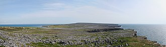 Dún Aonghasa - A view over the karst landscape on Inishmore, from Dún Aonghasa