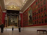 Inside the Hermitage Museum in St. Petersburg.