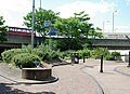 Inside the pedestrian roundabout on Great Cambridge Rd facing West - geograph.org.uk - 869759.jpg
