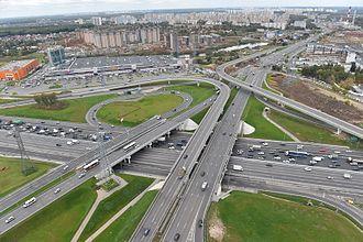 Moscow Ring Road - Image: Interchange 4 of MKAD
