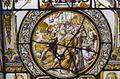 Interieur, glas-in-loodpaneel met gebrandschilderd glas, detail - Doorn - 20362537 - RCE.jpg