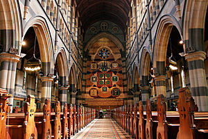 St Paul's Cathedral, Melbourne - Image: Interior of st pauls melb 03