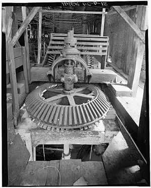 Glencoe, North Carolina - Interior view of the power house, Glencoe Mills, 1978