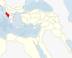 Location of Yanya Vilayeti