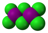 Space-filling model of the dimer