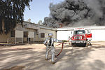 Iraqi, American Firefighters Battle Blaze at Weapons Training Si DVIDS16712.jpg