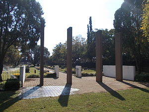 Irene, Gauteng - Irene Concentration Camp Cemetery's Pillars of remembrance.