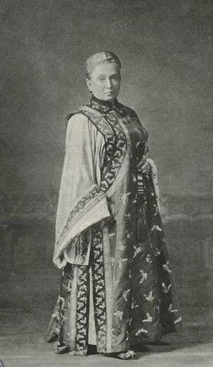 Isabella Bird - Isabella Bird wearing Manchurian clothing from a journey through China.