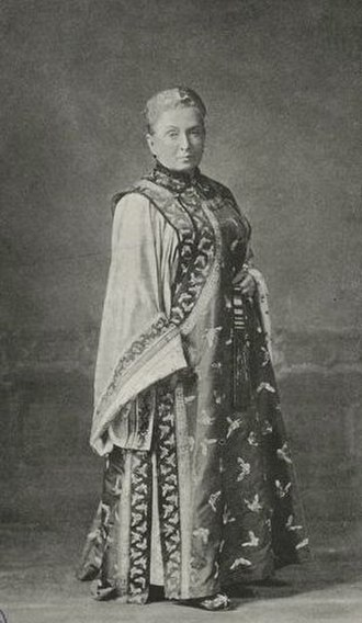 Isabella Bird - Isabella Bird wearing Manchurian clothing from a journey through China.