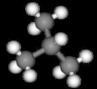Изобутан: вид молекулы