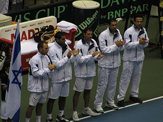 Israel Davis Cup team -  Israel Davis Cup team in 2009 (from left to right):Dudi Sela, Andy Ram, Jonathan Erlich, Harel Levy and the captain Eyal Ran