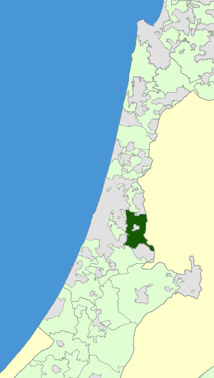Israel Map - Hevel Modi'in Regional Council Zoomin.svg