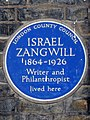 Israel Zangwill - London County Council Blue Plaque.jpg