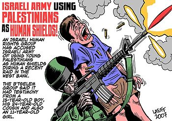 Israeli army using Palestinians as human shields
