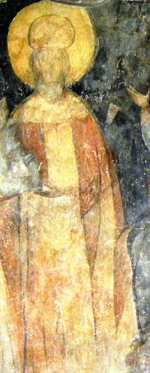 Ivan Alexander of Bulgaria - Contemporary mural portrait of Ivan Alexander from the Rock-hewn Churches of Ivanovo