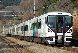 Kaiji (train) - E257 series EMU on a Kaiji service, January 2008