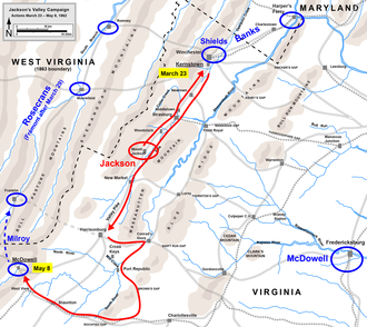 Battle of McDowell - Image: Jackson Valley Campaign Part 1