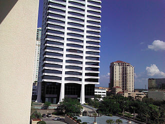 Riverplace Tower - Image: Jacksonville, FL, Riverplace Tower from Crown Plaza Hotel, Apr 2012