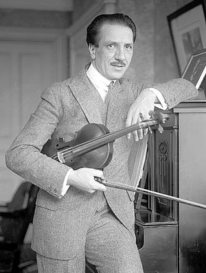French violinist Jacques Thibaud (1880-1953), ...