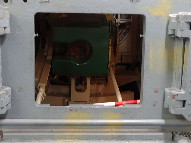 Bovington rear panel interior view gun breech block