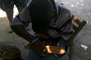 Jamaican woodcarver Bodden Town Grand Cayman