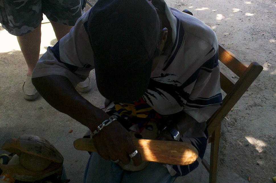 Jamaican woodcarver Bodden Town Grand Cayman