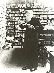 Murray in the Scriptorium at Banbury Road, before 1910