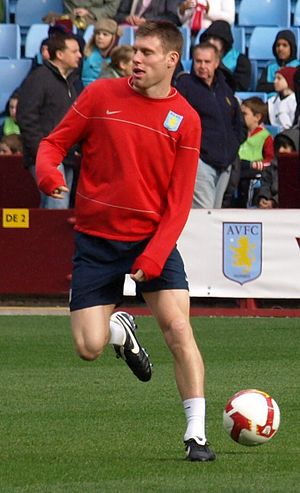 James Milner - Milner training with Aston Villa in 2009