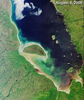 A bay on the southern end of the Hudson Bay, Canada