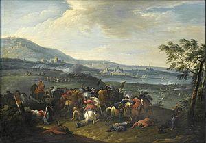 Jan Frans van Bredael - A cavalry skirmish