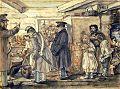 Jan Gniewosz, Rozdawanie posiłków w Sanoku, 24.10.1847 r..jpg