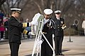 Japan Maritime Self-Defense Force Chief of Staff lays a wreath at the Tomb of the Unknown Soldier in Arlington National Cemetery (33040494735).jpg