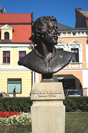 Matthias Braun - Bust of M.B.Braun in Jaroměř