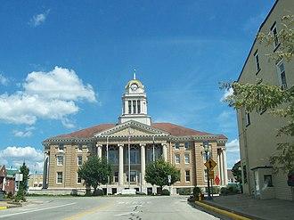 Dubois County Courthouse - Image: Jasper indiana square