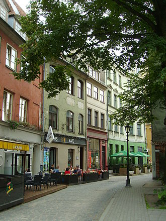 The Adventures of Sherlock Holmes and Dr. Watson - Jauniela street, in Old Riga, doubles as Baker Street in the series.