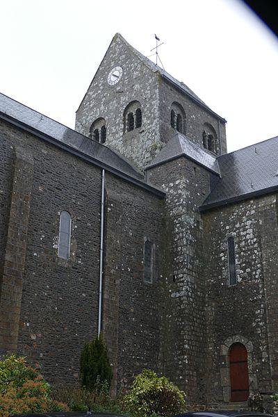 Saint-John-the-Baptist's church in Javron-les-Chapelles (Mayenne, Pays de la Loire, France).