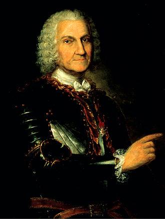 Jean-Baptiste Le Moyne de Bienville - Portrait by unknown artist