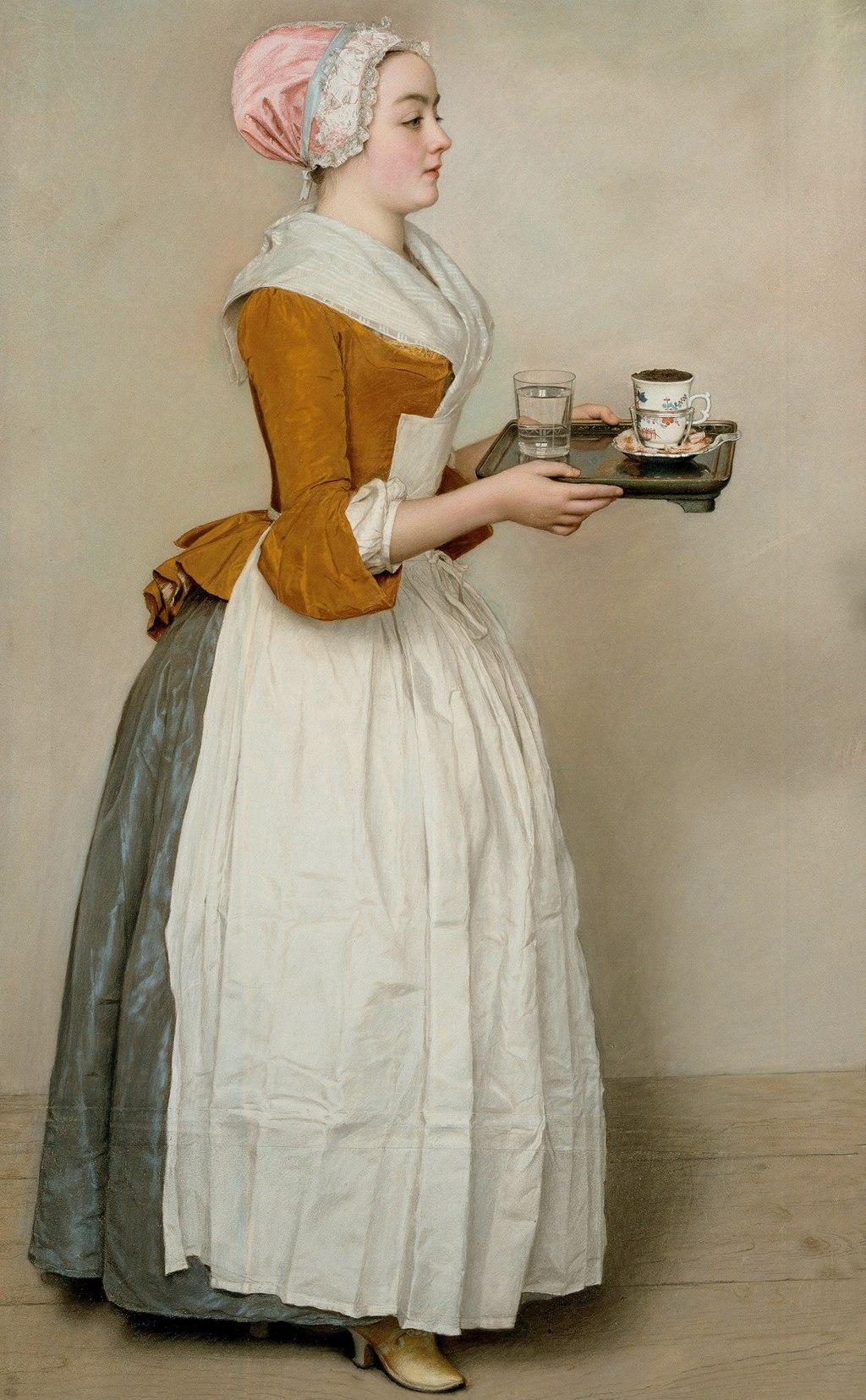 Jean-Etienne Liotard - Das Schokoladenmädchen (ca. 1744)