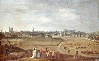 Vue de Rennes, prise du Champ de Mars