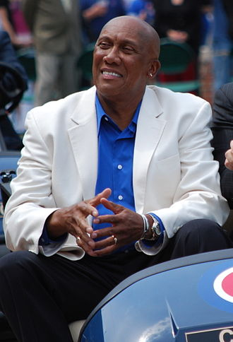 Ferguson Jenkins - Jenkins in a golf cart at Wrigley Field