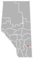Jenner, Alberta Location.png